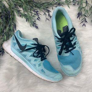 Nike Free Run Blue Running Shoes Sneakers